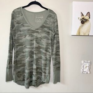 We the Free - Free People Camouflage Thermal Top